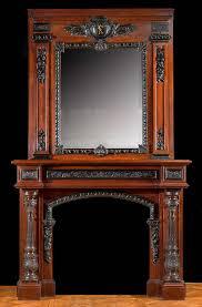 tall french baroque mahogany u0026 ebony fireplace mantel designs