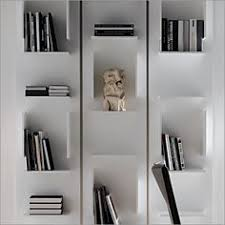 White Modern Bookshelves by Ideat 126 Dream Interiors Pinterest