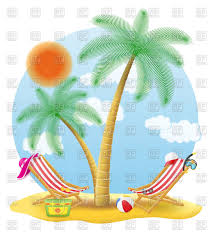 beach chairs under palm tree vector clipart image 111667 u2013 rfclipart