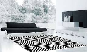 Black And White Modern Rug Wool Rugs Plantation Frankie Fra01 Black White Rug 110