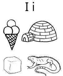 coloring pages alphabet i words alphabet coloring pages of