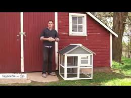 boomer u0026 george harvey 2 story rabbit hutch product review video