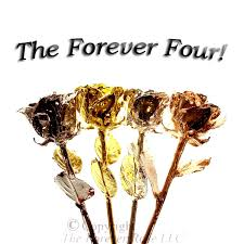 Gold Dipped Roses One Gold Rose One Silver Rose One Platinum Rose And One Rose