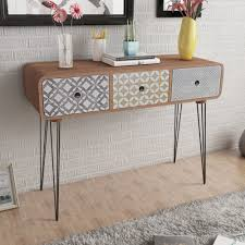 industrial console table with drawers retro console table hallway furniture vintage industrial side