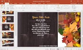 thanksgiving photo effects animated thanksgiving powerpoint template
