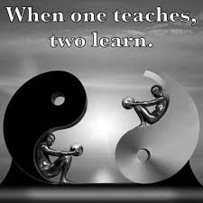 yin yang balance when one teaches two learn check http