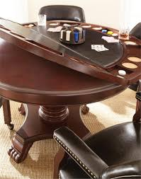 Leather Game Table Chairs Tournament Game Table Set