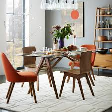 Round Glass Kitchen Table Jensen Dining Table West Elm