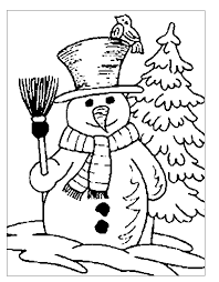 coloring pages winter landscape coloring