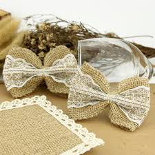 aliexpress com buy 100 pieces pack hessian burlap lace bows