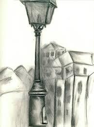 llv street lamp sketch bw