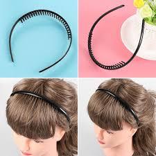 cool headbands 2 pcs men cool black metal toothed sports hair hoop hair clip