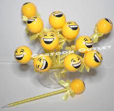 Keepsake Items 12 X Emoji Pens Party Favors Kids Keepsake Gifts Yellow Ball