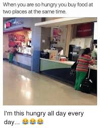 Buy All The Food Meme - when you are so hungry you buy food at two places at the same time