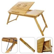 Furinno Laptop Desk by Bamboo Laptop Table Foldable Portable Adjustable Lap In Bed