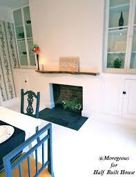 blocking fireplace good home design contemporary room glass block