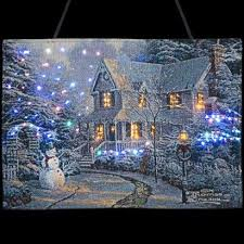 thomas kinkade lighted pictures 10 best illuminated tapestries canvases images on pinterest