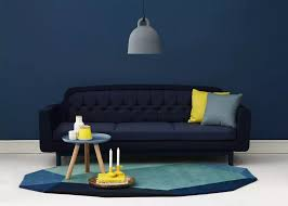 canapé bleu marine le bleu marine dans la décoration deco design salons