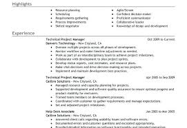 Best Project Manager Resume by Project Manager Resume Template Doc Construction Project Manager