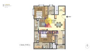 2 Bhk Floor Plans Lodha Meridian Kukatpally Hyderabad Price Floor Plan Images