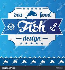 restaurant concept design seafood restaurant concept design stock vector 405937303