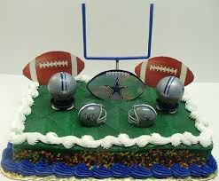 nfl football dallas cowboys birthday cake topper set featuring