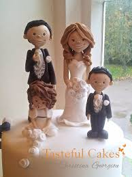 family wedding cake toppers cakes by georgiou family and groom