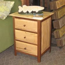 worthington queen bedroom set shown in wormy maple and walnut