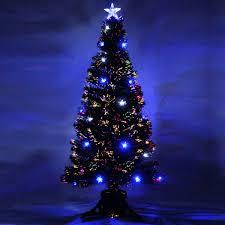 fiber optic tree 6 lights decoration