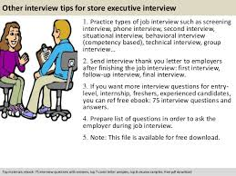 Store Executive Resume Sample by Store Executive Interview Questions
