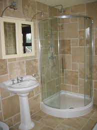 small bathrooms with shower curtains stained teak wood storage