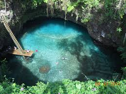 sua trench samoa huge natural swimming pool