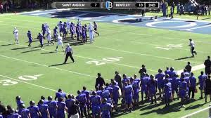bentley college bentley football vs saint anselm 10 10 15 youtube