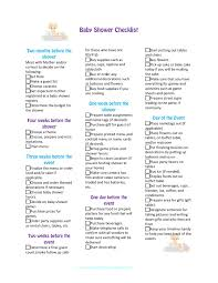 baby shower checklist for party planning printable version theme
