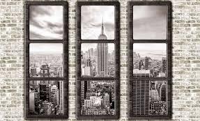 new york city skyline window view photo wallpaper mural 2833wm new york city skyline window view photo wallpaper mural 2833wm