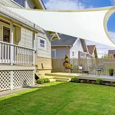 outsunny 19 7 u0027 x 13 1 u0027 rectangle outdoor patio sun shade sail