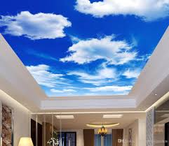 3d Wallpaper For Bedroom by Hd Blue Sky White Cloud Living Room Bedroom Ceiling Zenith Mural