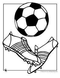 Soccer Ball Coloring Page Woo Jr Kids Activities Soccer Coloring Page