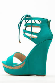 liliana turquoise lace up wedge cicihot wedges shoes store wedge