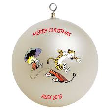 personalized calvin hobbes ornament gift home