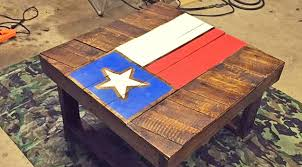 diy texas flag coffee table made from pallet wood country rebel