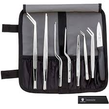 mercer culinary 35152 plating tongs set with storage bag kitchen