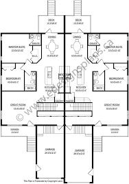 bi level floor plans with attached garage duplex plan 2012638 a bi level style side by side duplex attached