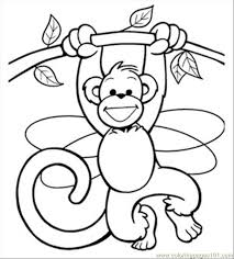 printable coloring pages monkeys monkey printables ss fairy207 mammals monkey free