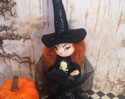 Vintage Kitchen Witch Doll by Halloween Dolls Etsy