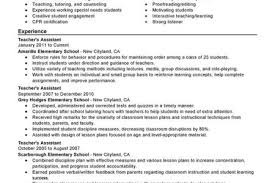 Assistant Teacher Resume Sample by Teaching Special Needs Assistant Resume Reentrycorps