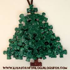 lisa u0027s craft blog tutorial puzzle piece ornaments and snowflakes
