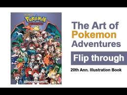 art pokemon adventures book flip 20th anniversary