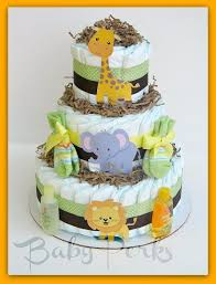 Diaper Cake Decorations For Baby Shower Best 25 Jungle Diaper Cakes Ideas On Pinterest Animal Theme