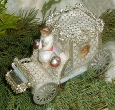 sebnitz carriage with wax baby dresden trims glass beads by